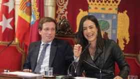 El alcalde de Madrid, José Luis Martínez-Almeida, junto a la vicealcaldesa, Begoña Villacís, en una imagen de archivo.