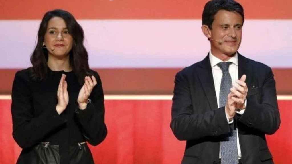 Arrimadas y Valls, durante un acto electoral.