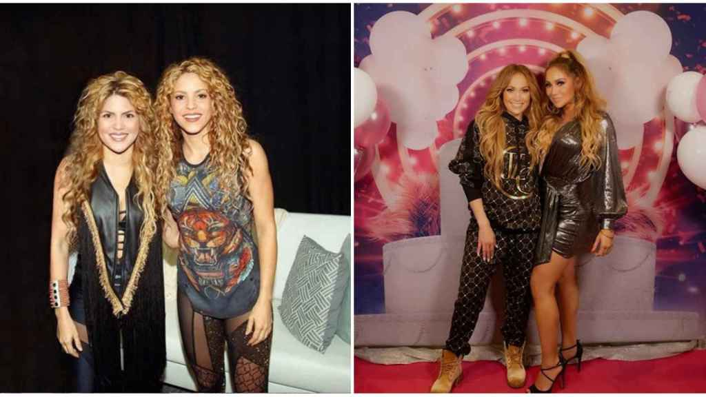 Shakira y JLo, el día que conocieron a sus dobles oficiales.