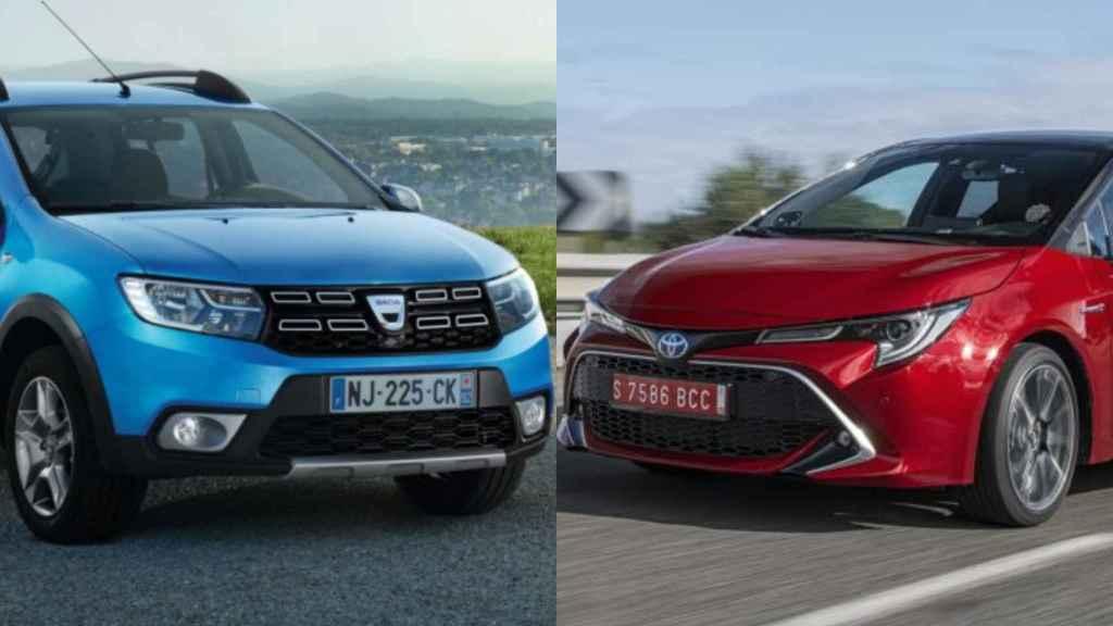 El Dacia Sandero es el diésel más vendido, mientras que el Toyota Corolla es el líder de los 'ecológicos'.