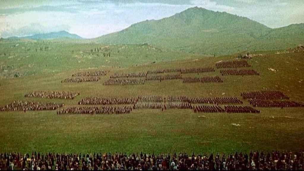 Escena de la batalla final de la película 'Espartaco'.