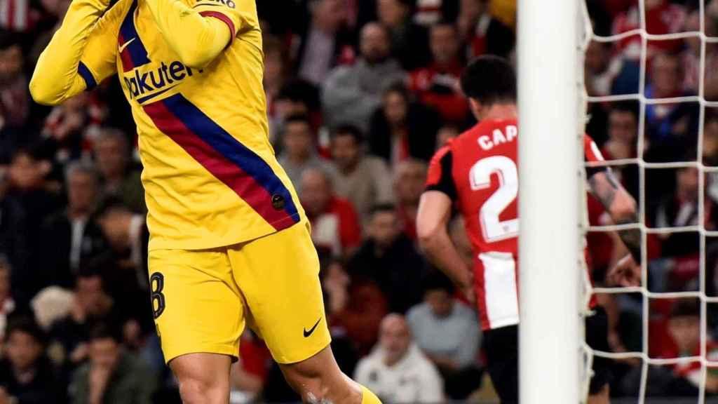 Jordi Alba ante el Athletic Club