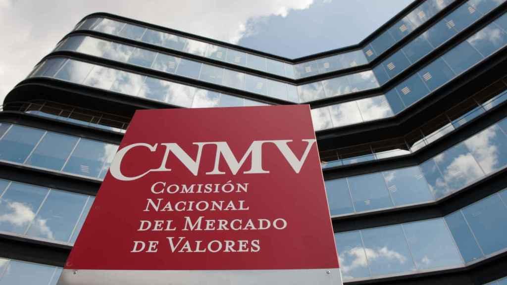 Entrada a la sede de la CNMV en Madrid.