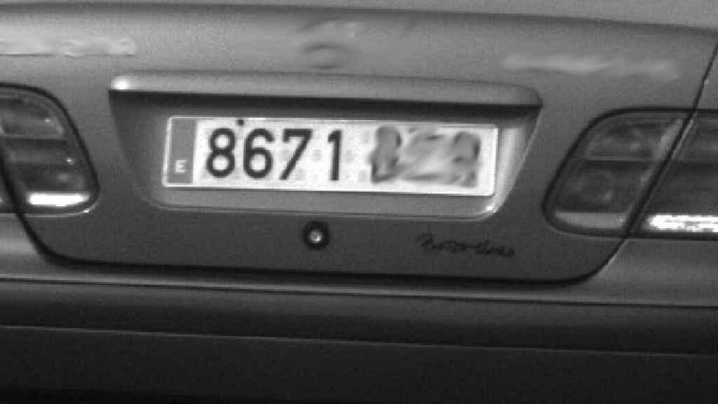 Matrícula falsificada del coche
