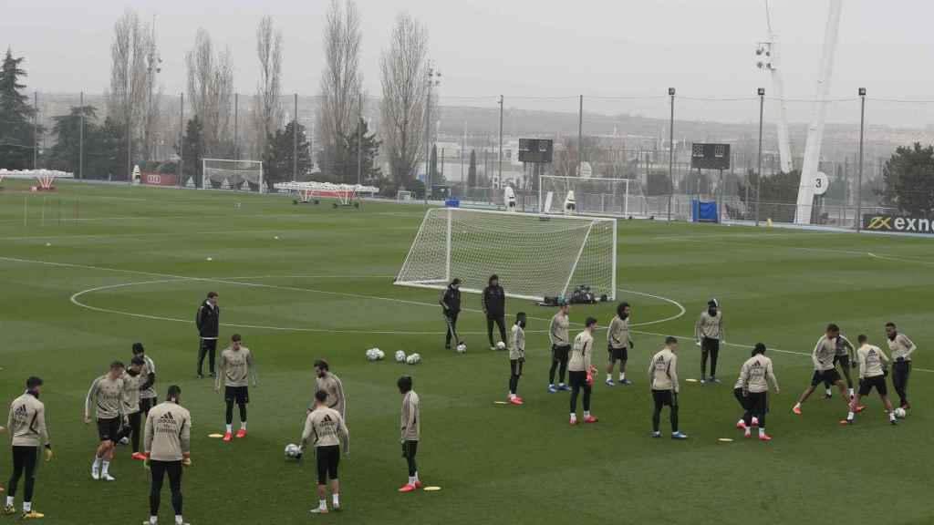 El último entrenamiento del Real Madrid antes de jugar contra Osasuna