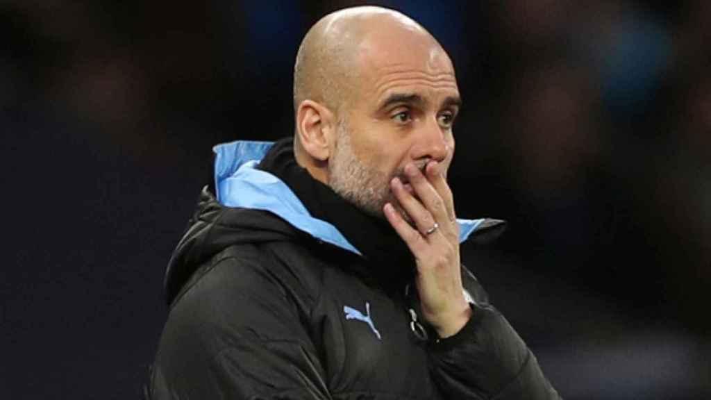 Pep Guardiola con el Manchester City