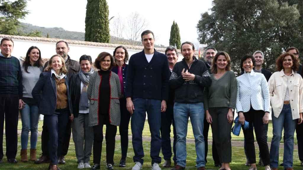Reunión del Gobierno en Quintos de Mora.