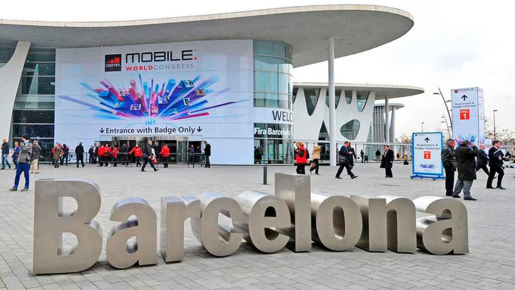 Imagen del recinto donde se realiza el Mobile World Congress.