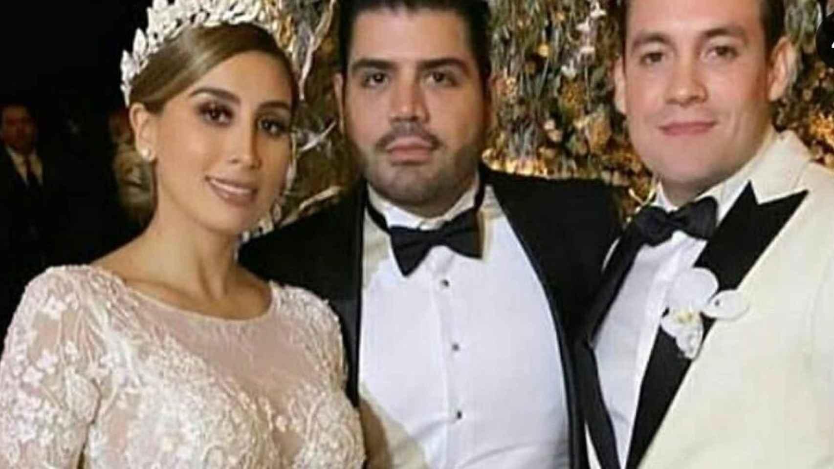 Alejandrina Guzmán y Edgar Cázares en su boda.