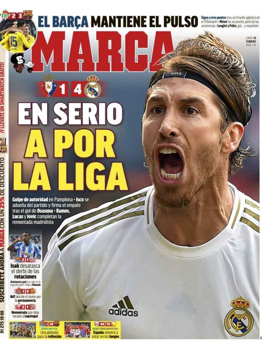 La portada del diario MARCA (10/02/2020)