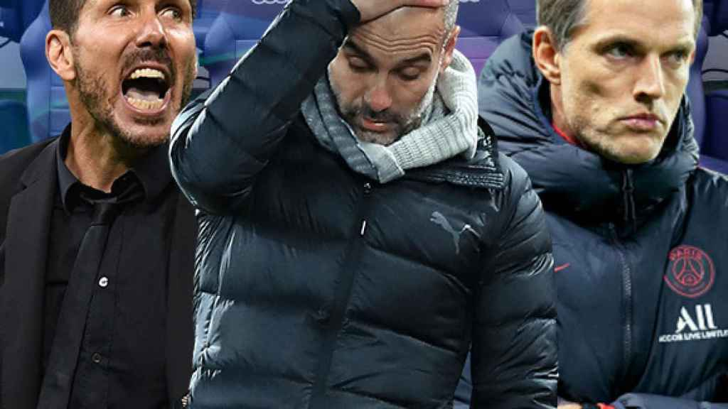 Simeone, Guardiola y Tuchel