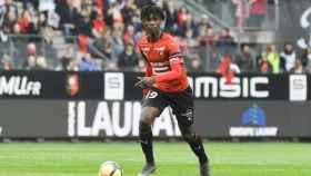 Camavinga, en un partido del Rennes