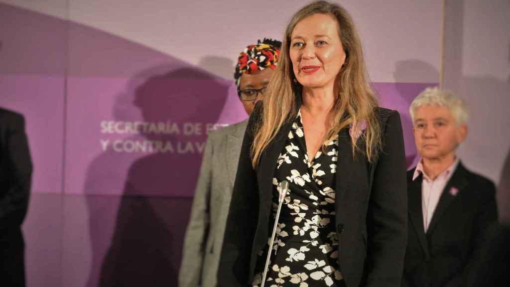 Victoria Rosell, delegada del Gobierno contra la Violencia de Género, promete su cargo en el Ministerio de Igualdad.