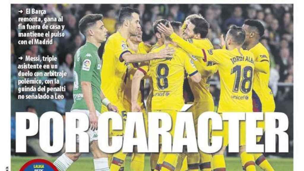 La portada del diario Mundo Deportivo (10/02/2020)