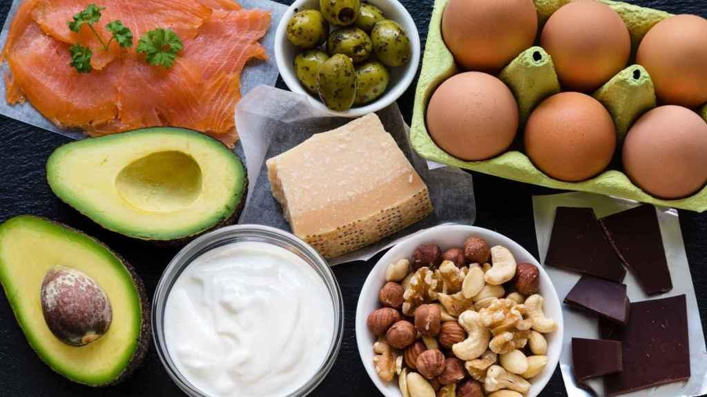 Alimentos recomendados en la dieta cetogénica.
