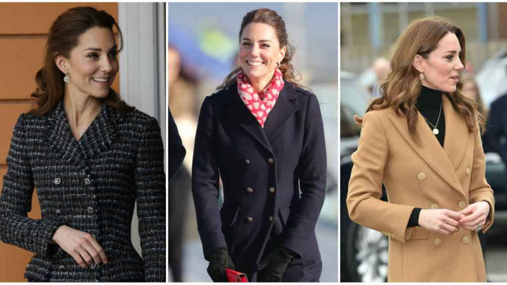 Kate Middleton con distintas prendas de Zara, en un montaje de JALEOS.