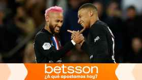 Neymar y Mbappé, en un partido del PSG