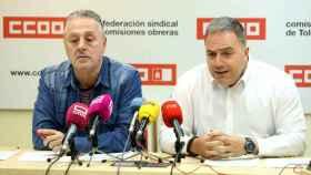 Federico Pérez y José Luis Cerro en la sede de CCOO en Toledo (Ó. HUERTAS)