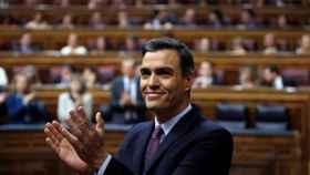 Pedro Sánchez durante el debate de investidura en el Congreso de los Diputados.