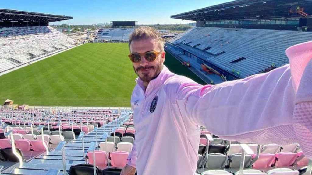Beckham, en el estadio en el que jugará el Inter Miami esta temporada