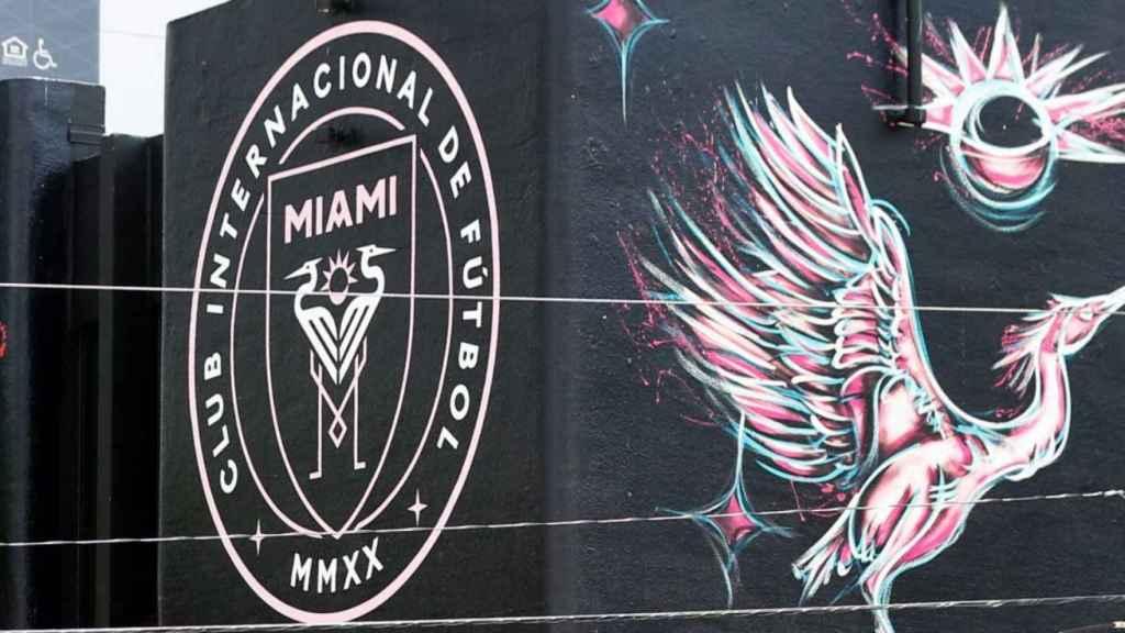 Mural del Inter Miami en la ciudad