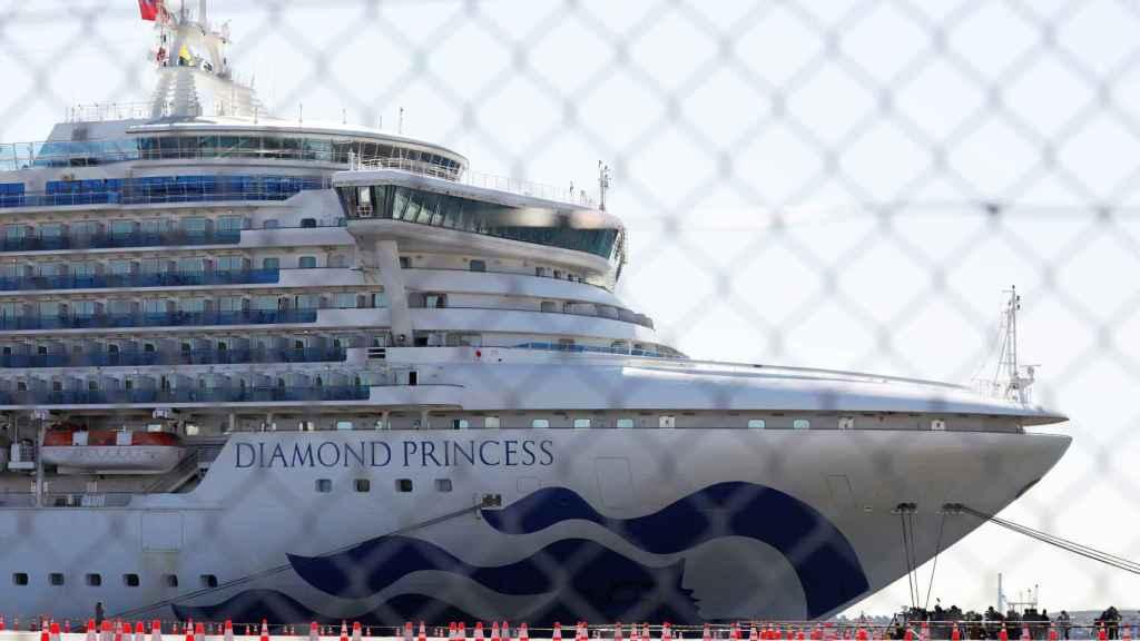 El Diamond Princess atracado en el puerto de Yokohama.