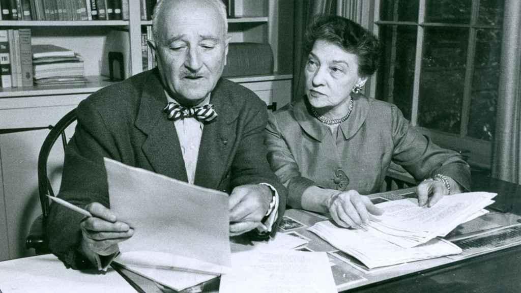 William Friedman junto a su mujer, Elizabeth Friedman.