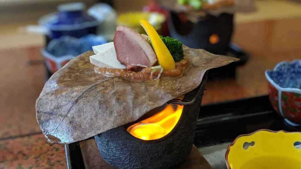 El desayuno en Akao-kan