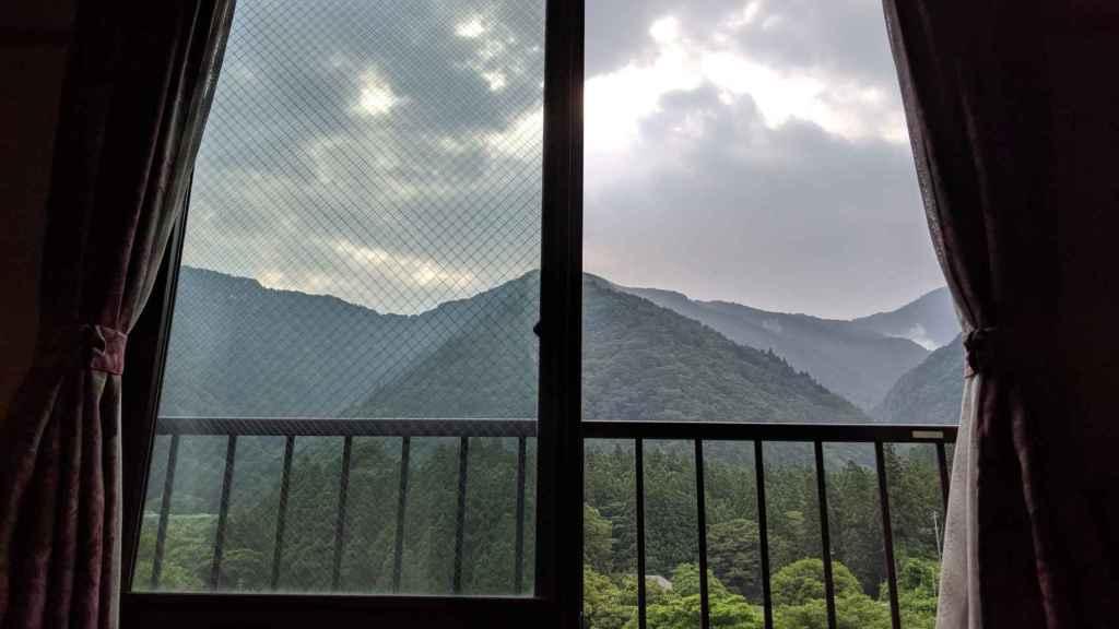 Vistas desde la habitación en Akao-kan