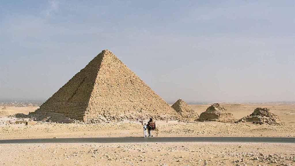 Imagen de la pirámide de Micerinos.
