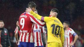 Morata y Messi