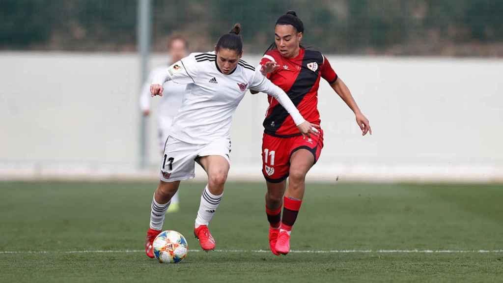 Jessica Martínez, en el CD Tacón - Rayo Vallecano femenino de la Copa de la Reina