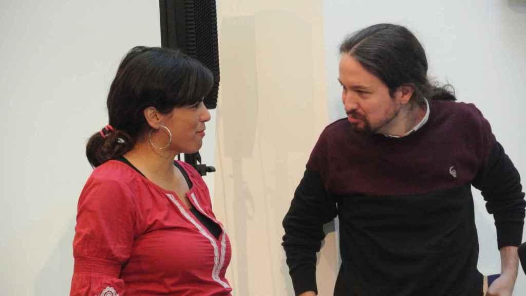 Teresa Rodríguez y Pablo Iglesias, en un Consejo Ciudadano de Podemos.