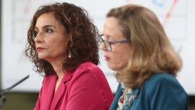 María Jesús Montero y Nadia Calviño, en el Consejo de MInistros.