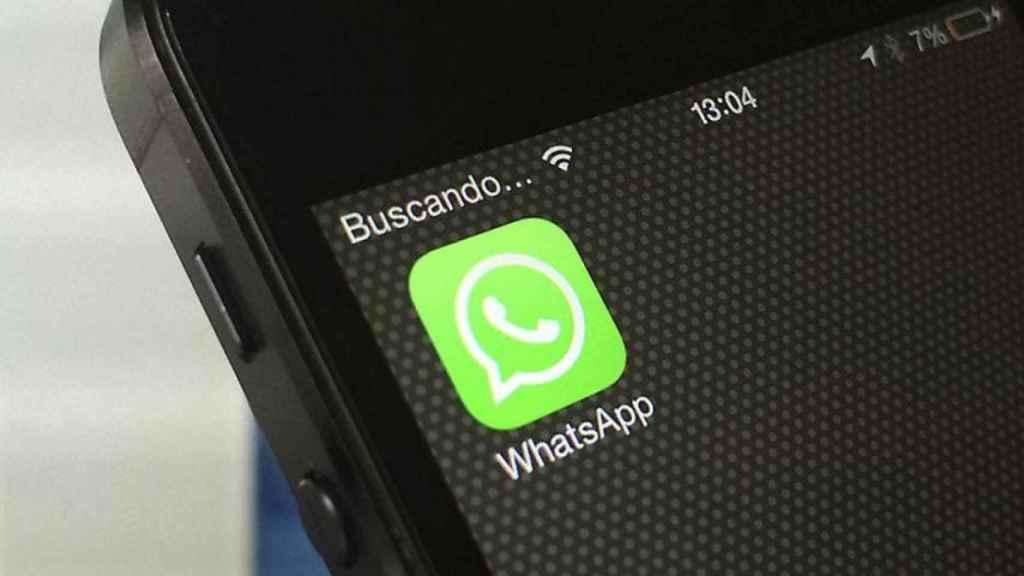 La aplicación de WhatsApp en un dispositivo móvil.