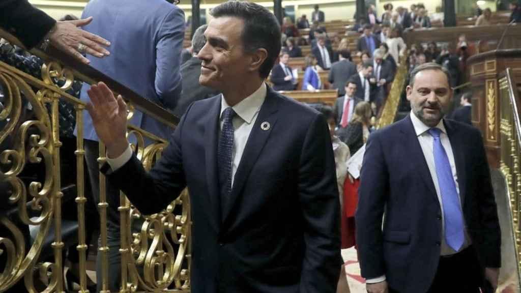 Pedro Sánchez y José Luis Ábalos.