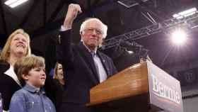 El precandidato demócrata Bernie Sanders en New Hampshire.