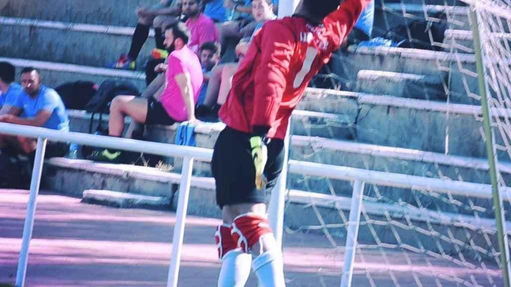 Santiago Rivero durante un partido