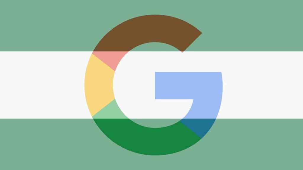 Google y la bandera de Andalucía.