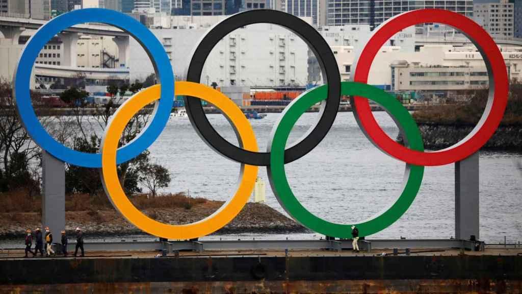 Los anillos olímpicos de Tokio 2020