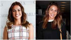 Montaje de JALEOS donde se aprecia el cambio de Lara Álvarez: hace unos meses (izquierda) y en una imagen reciente (derecha).