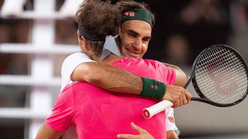 Nadal y Federer durante el Match for Africa