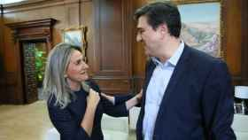 Milagros Tolón y Javier Palop en el Ayuntamiento de Toledo