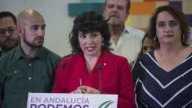La líder de Adelante Andalucía y de Anticapitalistas, Teresa Rodríguez.