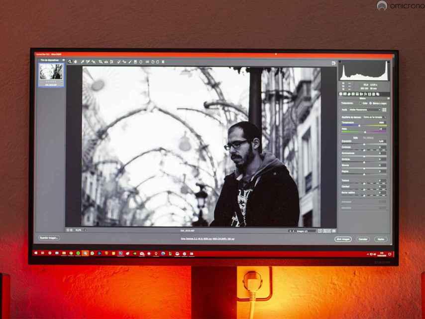 Editar fotografía en este monitor es una muy buena idea.