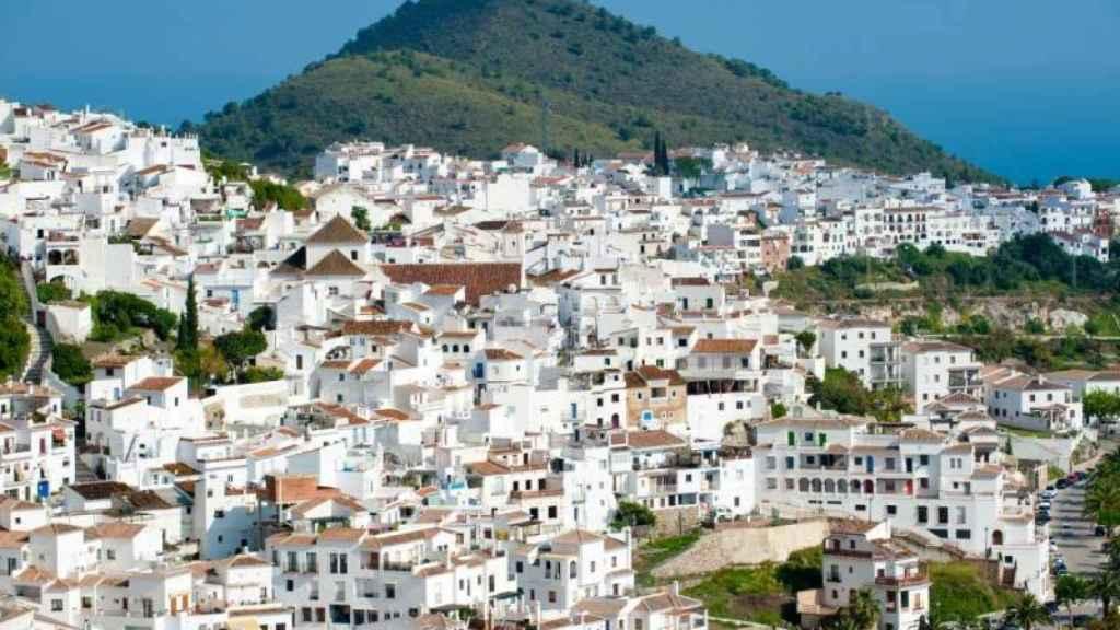 El pueblo de Frigiliana, donde vive Sebastián.