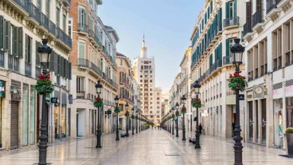 La calle Larios, en Málaga, donde se vendió el cupón.