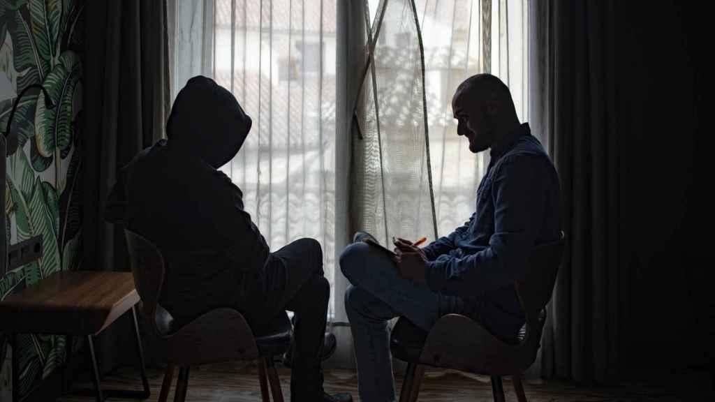 Francisco Javier Delgado durante la entrevista que concede a EL ESPAÑOL en un hotel de Málaga.