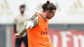 Gareth Bale, en el entrenamiento