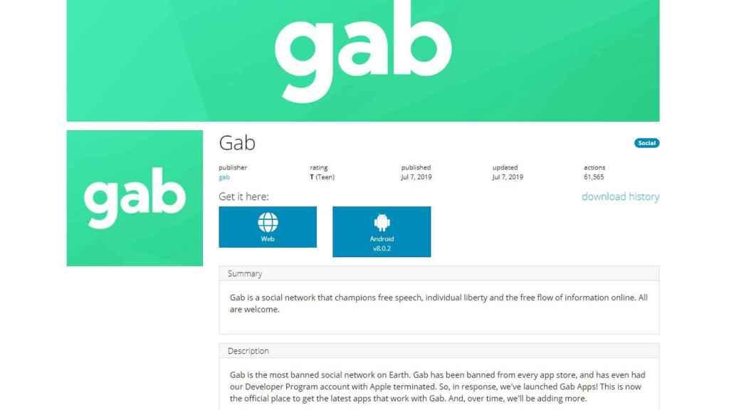Interfaz de Gab.